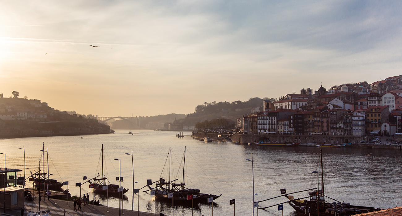 View over the river and Porto at The House of Sandeman