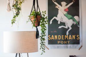 Sandeman vintage decoration details in hotel room