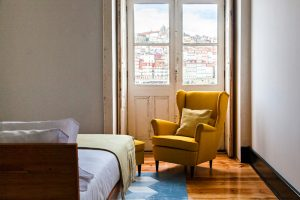 Hotel room with view of Porto