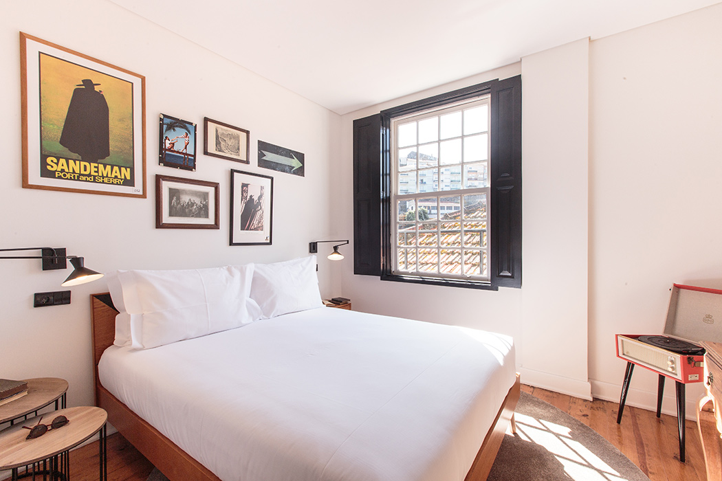 Hotel room design retro decoration in Porto