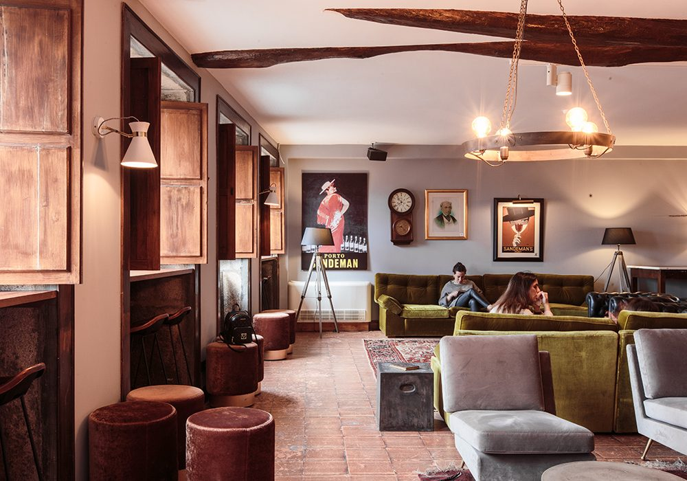 The Lounge and hotel lobby at The House of Sandeman